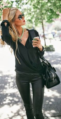 Love the black with a pop of color