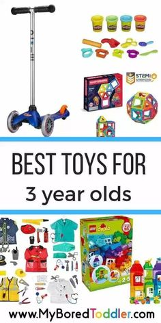 Best Toys for 3 Year Olds - Gift ideas for 3 year olds - My Bored Toddler - birthday gift ideas for three year olds, christmas gifts for three year olds, educational gift ideas Christmas Gifts For Three Year Olds, Gifts For 3 Year Old Girls, Gifts For Kids, Christmas 2019, Christmas Shopping, Toddler Birthday Gifts, Toddler Gifts, Toddler Toys, Baby Toys