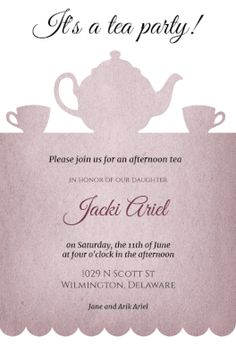 Tea Party - Free Printable Bridal Shower Invitation Template | Greetings Island
