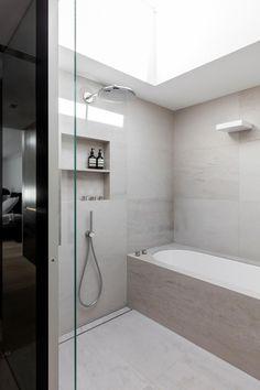 Modern Linear Home near Sydney – Greige Design Bathroom Interior Design, Decor Interior Design, Interior Decorating, Handicap Bathroom, Small Bathroom, Washroom, Master Bathroom, Bathroom Colors, Bathroom Ideas