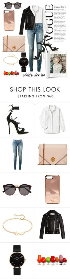 """bla bla bla"" by elf-sable ❤ liked on Polyvore featuring Dsquared2, Lacoste, Yves Saint Laurent, Tory Burch, Illesteva, Rebecca Minkoff, Jennifer Zeuner, Acne Studios and CLUSE"