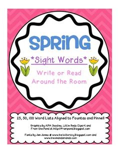 Perfect SPRING literacy game... so done with winter!!!