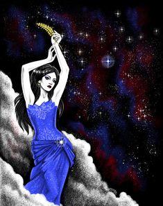 Virgo, the maiden of the cosmos Virgo Art, Virgo And Scorpio, Zodiac Art, Virgo Zodiac, Aquarius, Virgo Pictures, Virgo Images, Zodiac Signs Pictures, My Moon Sign