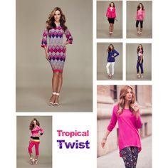"""Tropical Twist | TRIBAL Spring/Printemps 2014"" by tribal-sportswear on Polyvore"