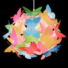 Modern Multi Coloured Butterflies Ceiling Pendant Light Lamp Shade Chandelier in Home, Furniture & DIY, Lighting, Ceiling Lights & Chandeliers | eBay