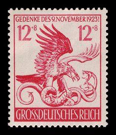 Estampillas Postales del Tercer Reich