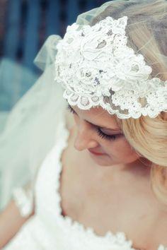 Helena alencon lace chapel length cap veil- Jaclyn Jordan New York