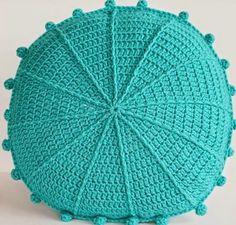 My Poppet – Carnivale Cushion: Crochet-Along Part 1 Teal Cushions, Crochet Cushions, Crochet Pillow, Modern Crochet Patterns, Doily Patterns, Crochet Diy, Crochet Home, Crochet Furniture, Caron Yarn