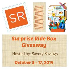 Surprise Ride Box Giveaway! (ends 10/17) USA -gt:  Surprise Ride Box Giveaway! Sponsored by: Surprise Ride Hosted by: Savory Savings Co-hosted by: Michigan Saving& More  While we all dream... ~  http://www.singlemommies.net/2014/10/surprise-ride-box-giveaway-ends-1017-usa-gt/