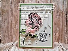 Peanuts and Peppers Papercrafting: Try It Thursday - Graceful Garden Encouragement Card (New Embossing Paste!)