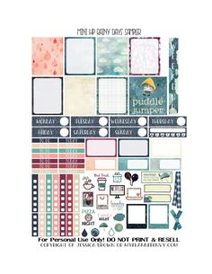 Free Printable Rainy Days Sampler for the Mini Happy Planner from myplannerenvy.com