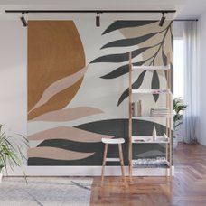 Abstract Art 54 Wall Mural by thindesign Wall Painting Decor, Mural Wall Art, Wall Decor, Bedroom Murals, Bedroom Wall, Bedroom Decor, Interior Decorating, Interior Design, Inspiration Wall
