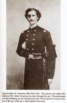 Captain John H. Donovan of the 69th New York   Green cockade of the Fenians pinned to his sleeve.