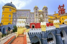 Visit the Pena Palace, explore Sintra's city center and admire panoramic views of Cascais and Estoril. Half a day trip from Lisbon. Sintra Portugal, Visit Portugal, Spain And Portugal, Portugal Travel, Stonehenge, Lonely Planet, Saint Marin, Disneyland, Pena Palace