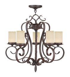 Livex Lighting Millburn Manor 5 Light Chandelier in Imperial Bronze 5485-58 #livex