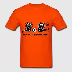 No Terror Statement Shirt Catpaw USA Terrorism - Men's T-Shirt