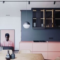 Totally gorgeous. Do I ever ever want a pink and grey kitchen. Yes I do. And this is turning my head and spinning it around. Spotted this on @ncinteriors designed by @artpartnerua #grey #pink #greyandpink #pinkandgrey #pinkandgreyinteriors #greyandpinkinteriors #greyinteriors #pinkinteriors #wednesdayinteriors #wednesday #wednesdayinspiration #interiordesign #interiors #interiorstyle #interiorstyling #interiorinspo #instainterior #homedecor #homestyle #homedesign #homestyling…