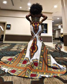 Chimzi - The Queens (African Ankara Dashiki Kente) dress African Print Dress Prom, African Formal Dress, African Prom Dresses, African Wedding Dress, Latest African Fashion Dresses, African Attire, African Dress, Ankara Fashion, African Style