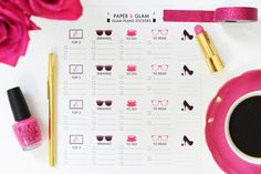 Glam Day Planner Stickers
