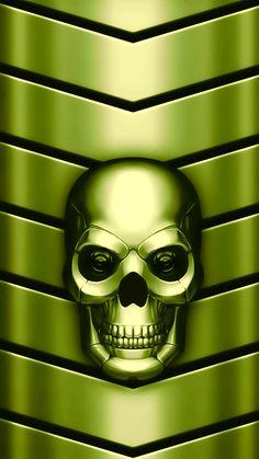 Apple Wallpaper Iphone, Skull Wallpaper, Metallic Wallpaper, Cellphone Wallpaper, Wallpaper Backgrounds, Wallpapers, Skull Pictures, Art Pictures, Disco Background