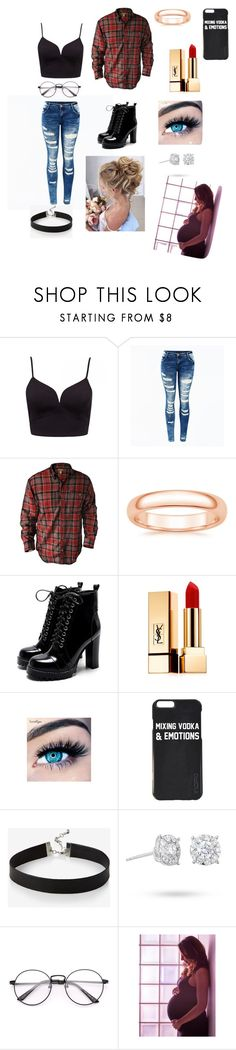 """""""Untitled #22"""" by breannalynncox ❤ liked on Polyvore featuring Yves Saint Laurent, MINX, Express and Masquerade"""