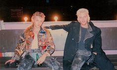 "A relaxing moment behind the scenes of ""The Lost Boys""."