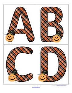 FREE This is a set of large upper case letters with a Halloween theme. Use to make matching and recognition games for young learners. Large enough for bulletin board and room décor.