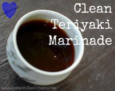 Clean Teriyaki Marinade - 21 Day Fix Recipes - Clean Eating Recipes Healthy Recipes - Dinner - Lunch  weight loss www.simplecleanfitness.com
