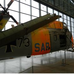 One of the many vintage aircraft that can be seen in the new exhibition hall at the Flugwerft Schleissheim in Munich.