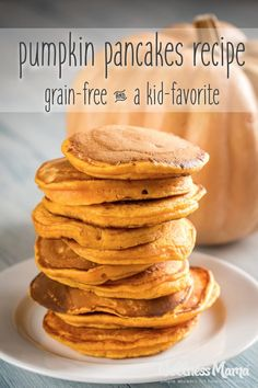 This simple pumpkin pancakes recipe is a grain free treat! Acceptable for those . Gaps Diet Recipes, Paleo Recipes, Cooking Recipes, Paleo Diet, Scd Diet, Healthy Pumpkin Recipes, Paleo Breakfast, Breakfast Recipes, Pancake Recipes