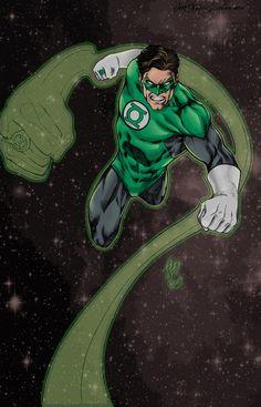 Hal Jordan - Pencil v, & Color by Aaron Felizmenio