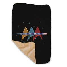 Star Trek: The Original Series Live Long and Prosper Deltas Sherpa Blanket Star Trek Shop, Star Trek Merchandise, Live Long, Stay Warm, Crew Neck Sweatshirt, Blanket, The Originals, Stars, Baby Gear