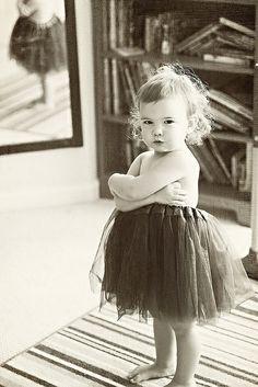 Ballerina attitude.