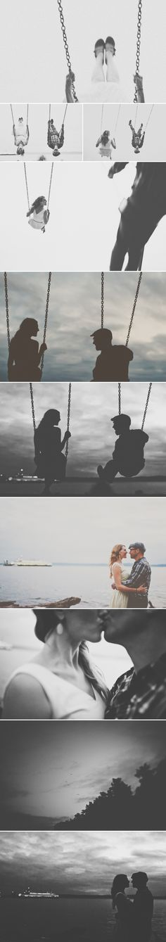 The red balloon photography | seattle couples photographer {actually, swinging makes me nauseous. But I love this so.}