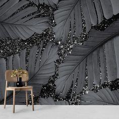 Mural Wall Art, Diy Wall Art, Wall Art Decor, Glam Wallpaper, Designer Wallpaper, Wallpaper Designs For Walls, Wallpaper Patterns, Custom Wallpaper, Glitter Accent Wall