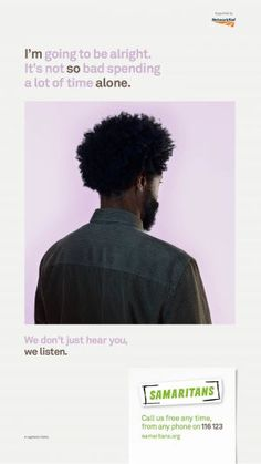 Samaritans' We listen campaign explained   Samaritans
