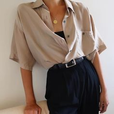 Image about fashion in moda by - on We Heart It Mode Outfits, Retro Outfits, Vintage Outfits, Casual Outfits, Vintage Fashion, Vintage Clothing, Teenage Outfits, White Shirt Outfits, Summer Outfits