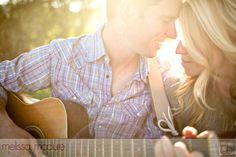 Melissa McClure Photography #guitar #engagement