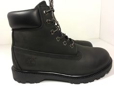 Timberland Black Leather 6 inch Waterproof Boots 10318 Women's 8 5 M | eBay