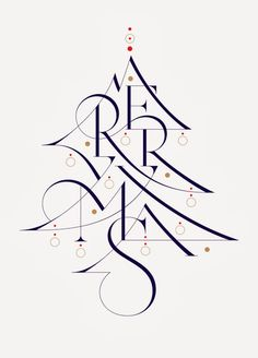 Creative Christmas, Lettering, Typeverything, Merry, and Aronjancso image ideas & inspiration on Designspiration Calligraphy Letters, Typography Letters, Typography Design, Calligraphy Artist, Creative Typography, Islamic Calligraphy, Inspiration Typographie, Merry Xmas, Merry Christmas Wishes