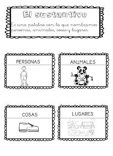 ¿Qué puedo hacer hoy?: El sustantivo First Grade, Homework, Homeschool, Notebook, Bullet Journal, Writing, Reading, Spanish, Interactive Notebooks