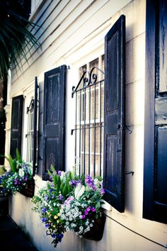 lovely shutters and window boxes