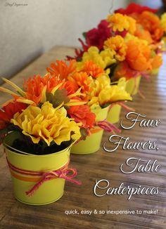 Flower Party Centerpieces