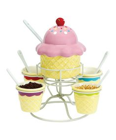 Take a look at this Ice Cream Social Topping Spinner Set by Boston Warehouse on #zulily today!
