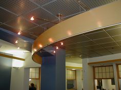 Rensselaer Polytechnic Institute, Troy NY, Academy Hall #USGCeiling #Specialty   Rensselaer Polytechnic Institute, Troy NY, Academy Hall  Astro, Rdr Climaplus, Panz perf, Compasso Paired - triple stacked,   Seleman Architects