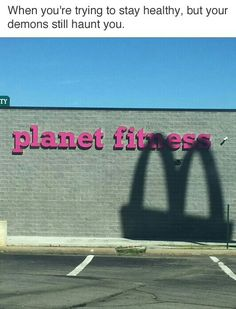 "Lol ""and the shadow of McDonald's will come upon you that day and a great decision will stand before you and your fitness destiny awaits at the end of whichever road you shall choose"""