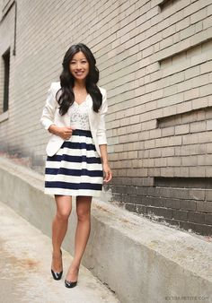 lace crochet and stripes.