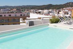 Rooftop pool and sun terrace Delamar Hotel Lloret de Mar Spain