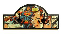 idea for Joe's shelf Vintage Comic Books, Vintage Comics, Leo Christopher, Superman And Lois Lane, Decoupage Furniture, Comic Book Pages, Second Child, Solid Pine, Comic Art