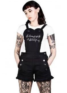 Heartless Dungaree Shorts